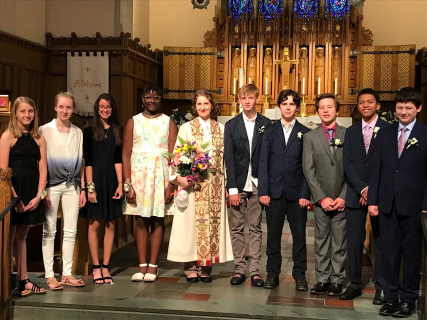 Confirmands 2019 in church best